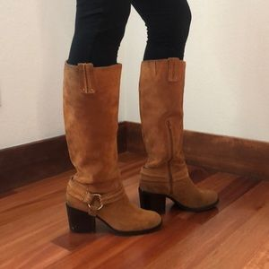 Jessica Simpson Camel Suede Boots